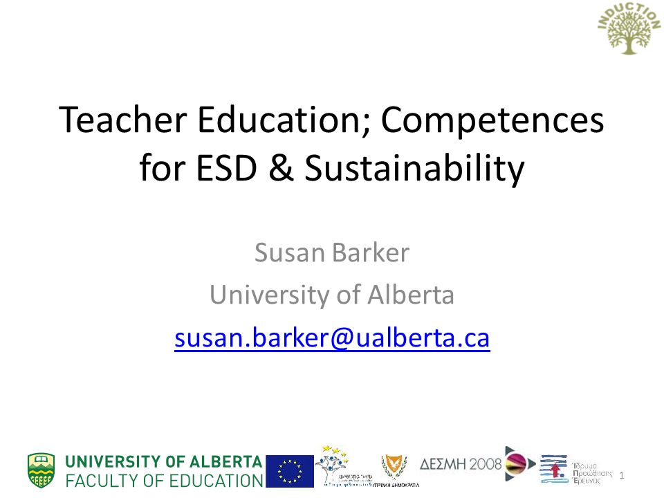 Teacher Education; Competences for ESD & Sustainability