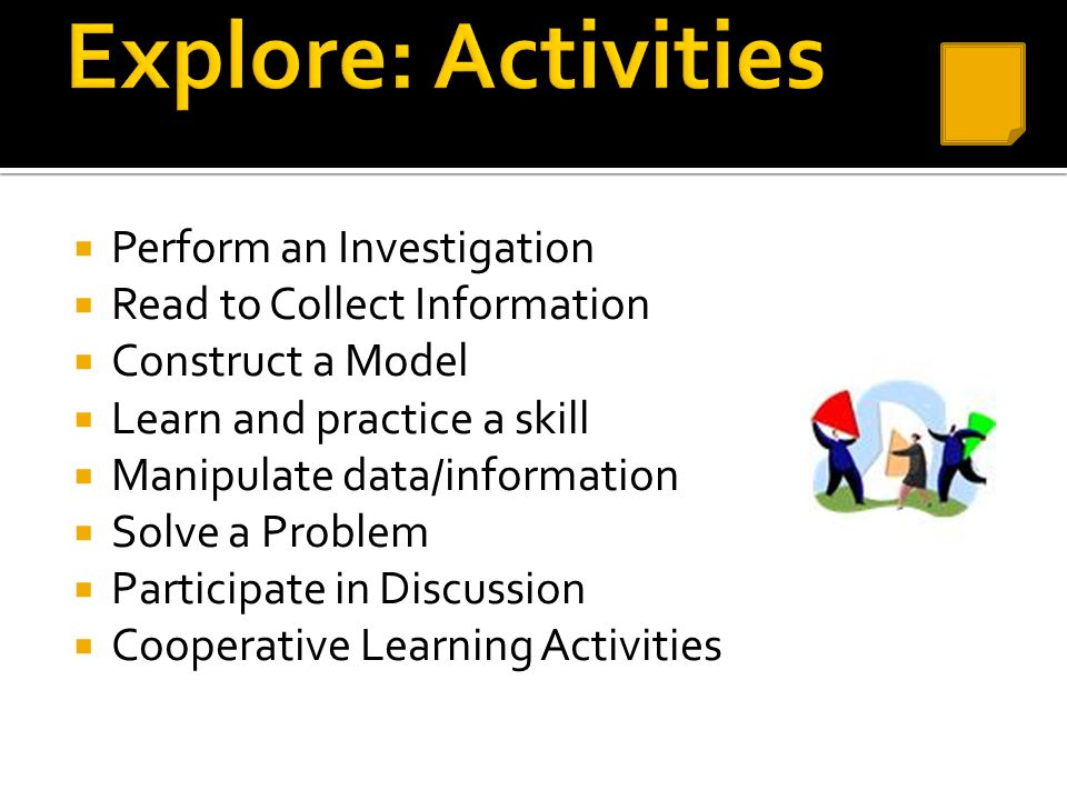 Explore: Activities Perform an Investigation