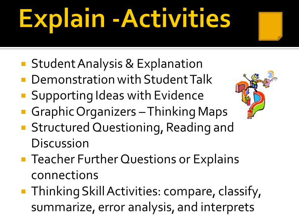 Explain -Activities Student Analysis & Explanation