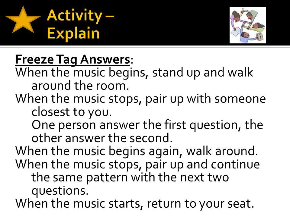 Activity – Explain