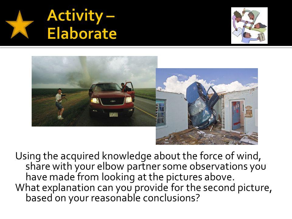 Activity – Elaborate