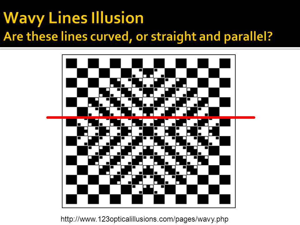 Wavy Lines Illusion Are these lines curved, or straight and parallel
