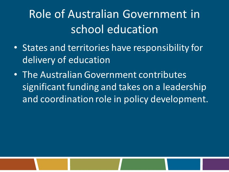 Role of Australian Government in school education