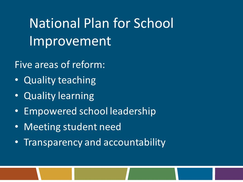 National Plan for School Improvement