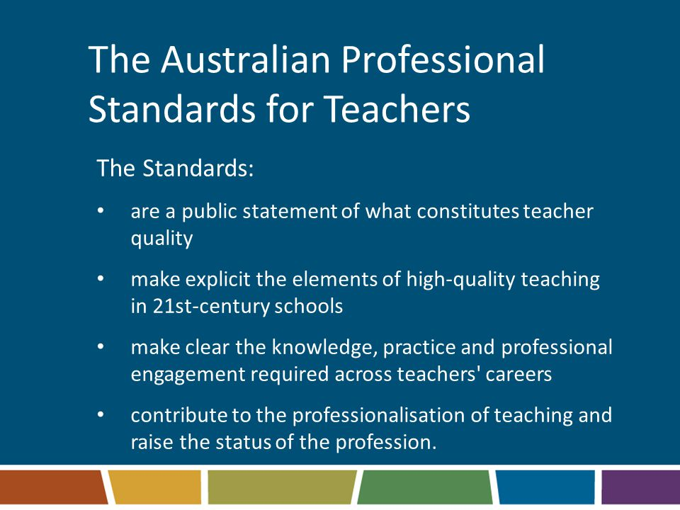 The Australian Professional Standards for Teachers