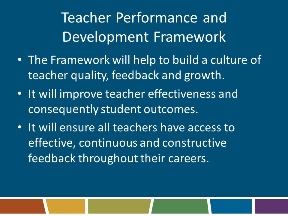 Teacher Performance and Development Framework