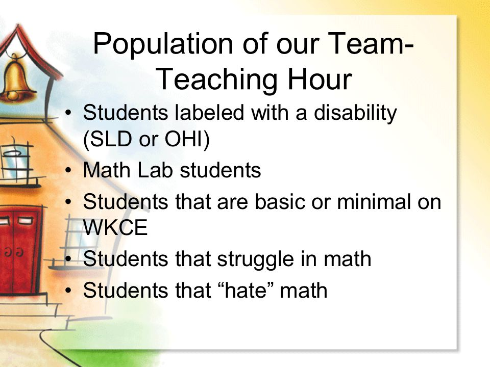 Population of our Team-Teaching Hour