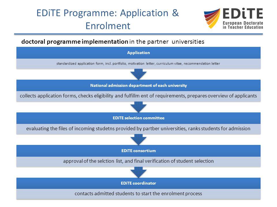 EDiTE Programme: Application & Enrolment