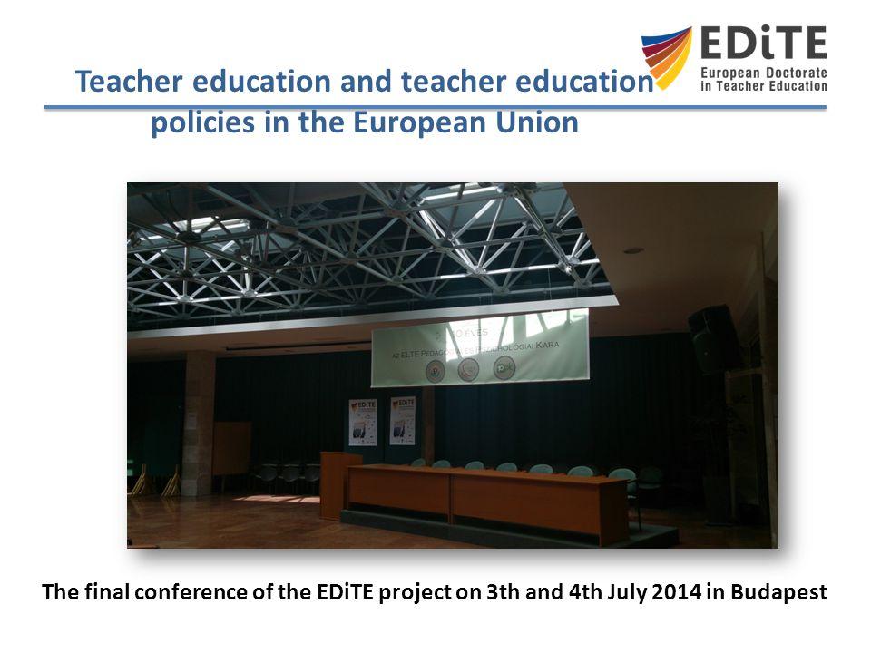 Teacher education and teacher education policies in the European Union