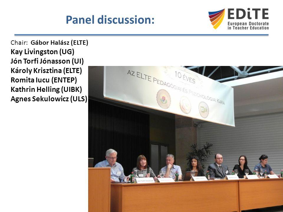 Panel discussion: Kay Livingston (UG) Jón Torfi Jónasson (UI)