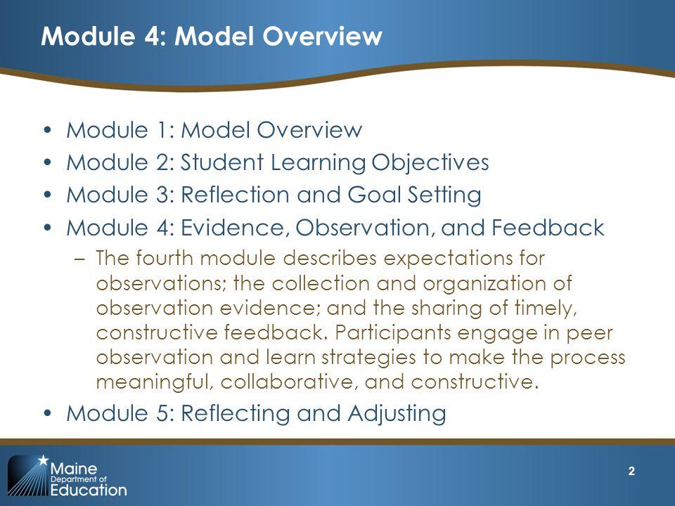 Module 4: Model Overview