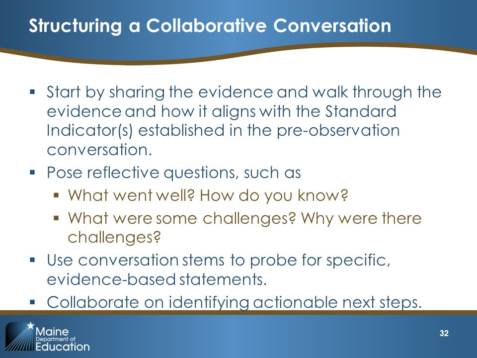 Structuring a Collaborative Conversation
