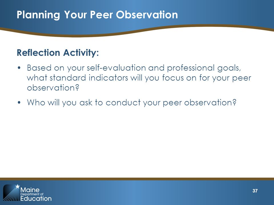 Planning Your Peer Observation