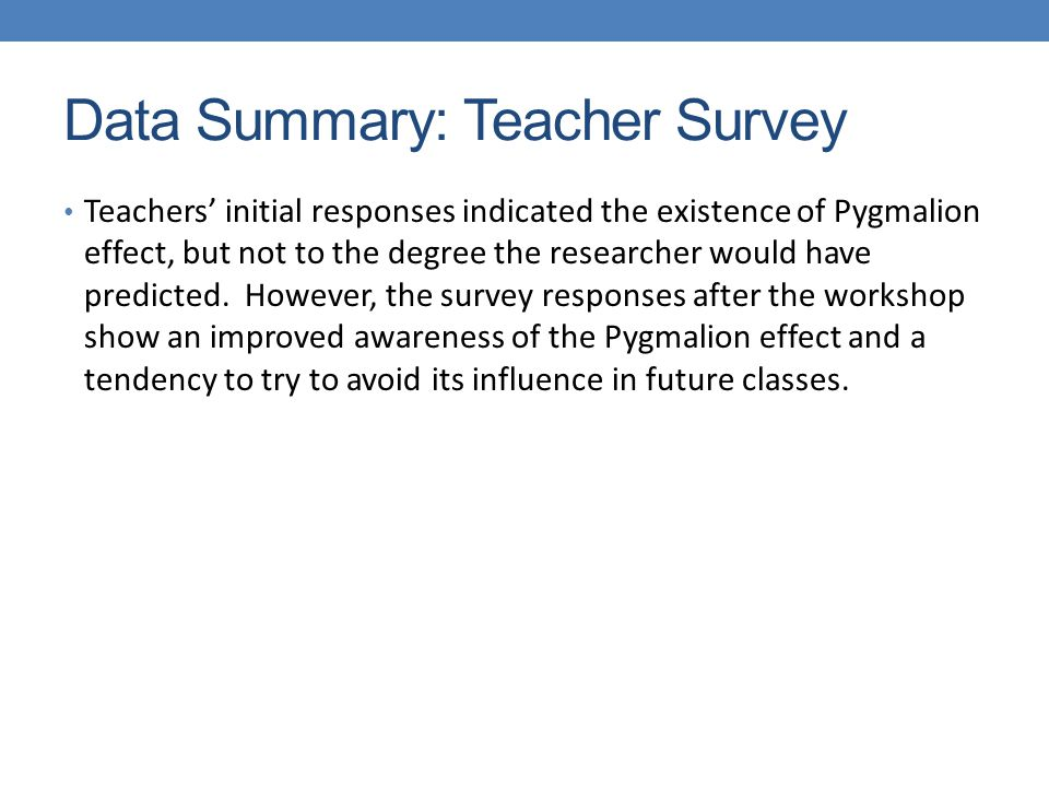 glen gochal professor o connor petruso ppt  data summary teacher survey