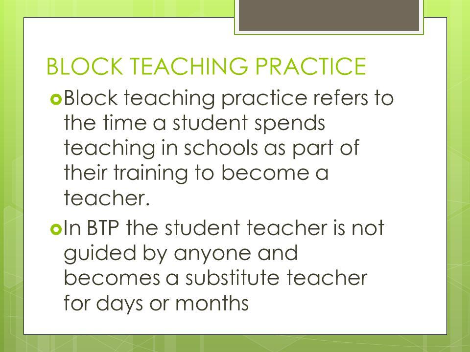 BLOCK TEACHING PRACTICE