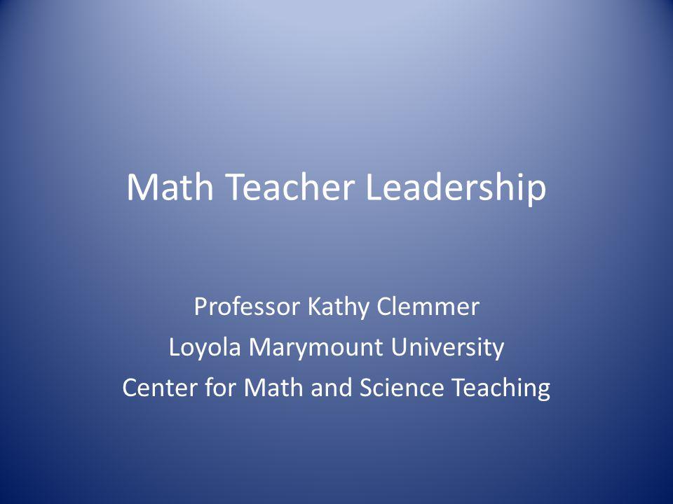 Math Teacher Leadership