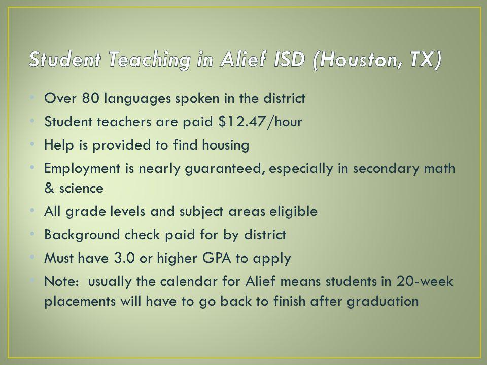 Student Teaching in Alief ISD (Houston, TX)