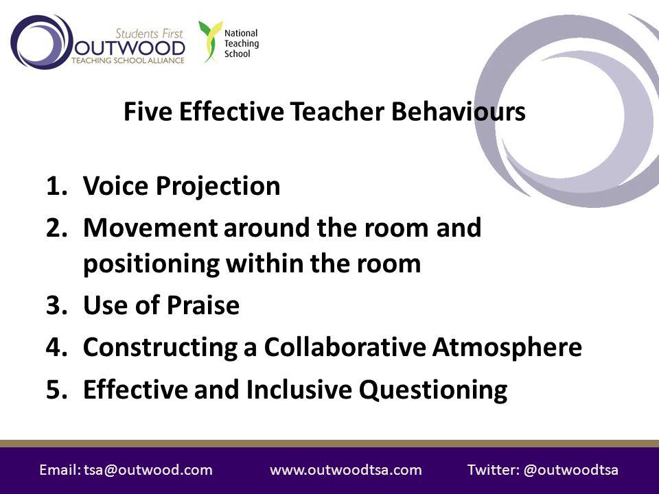 Five Effective Teacher Behaviours