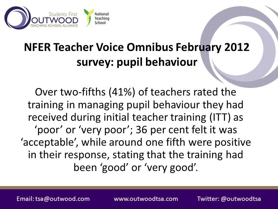 NFER Teacher Voice Omnibus February 2012 survey: pupil behaviour