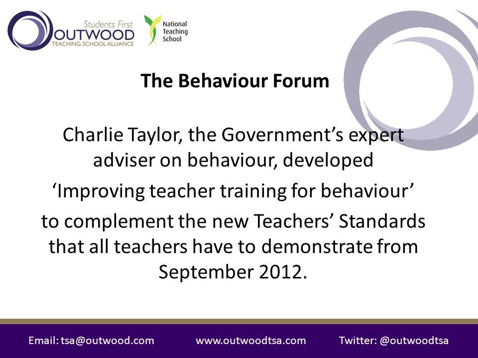 'Improving teacher training for behaviour'