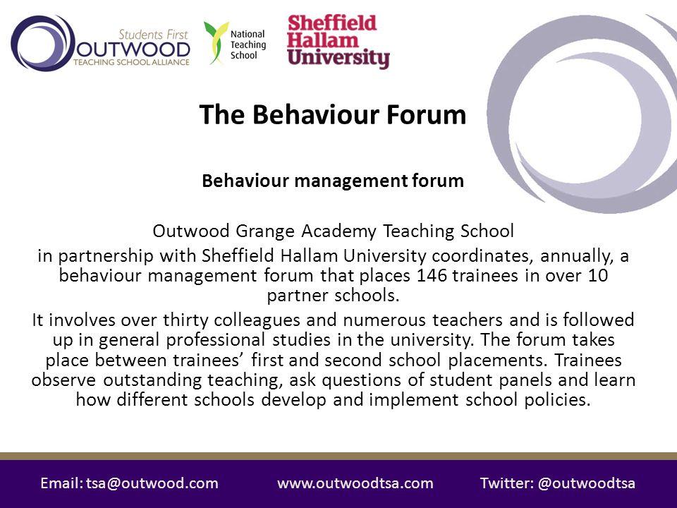 Behaviour management forum