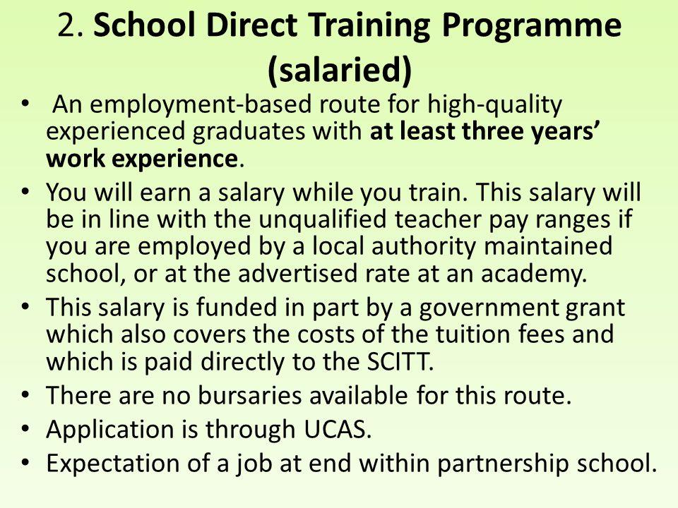2. School Direct Training Programme (salaried)