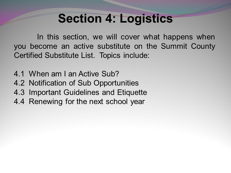 Section 4: Logistics 4.1 When am I an Active Sub