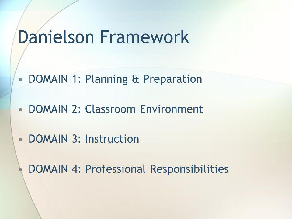 Danielson Framework DOMAIN 1: Planning & Preparation