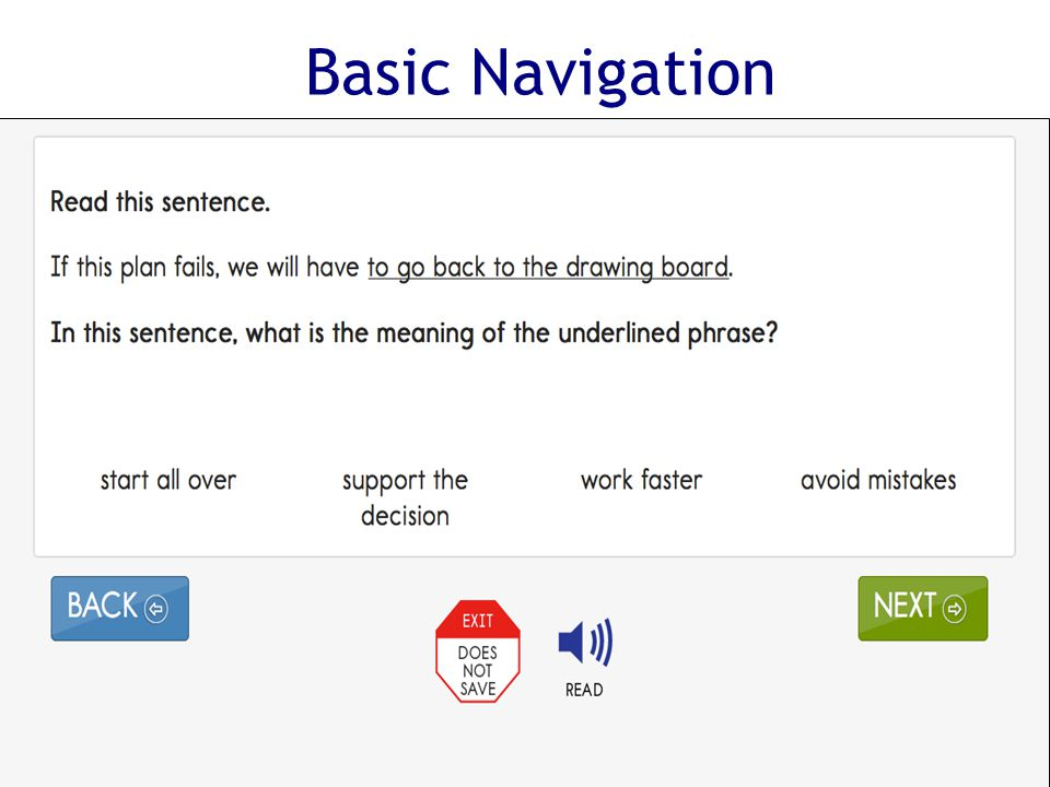 Basic Navigation DLM Required Test Administration Training Module 7