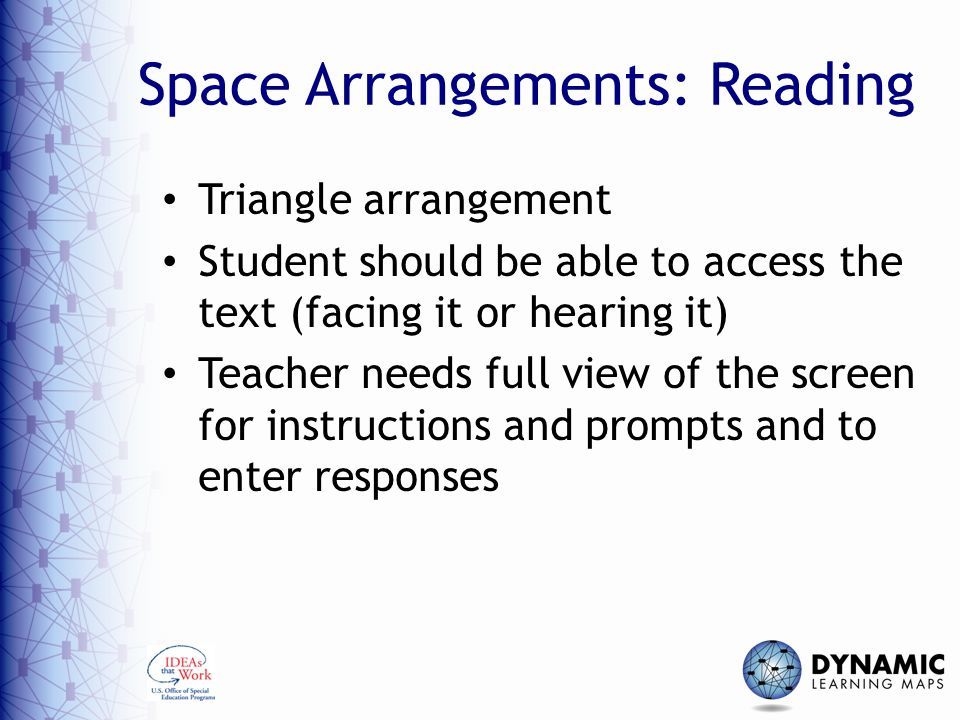 Space Arrangements: Reading