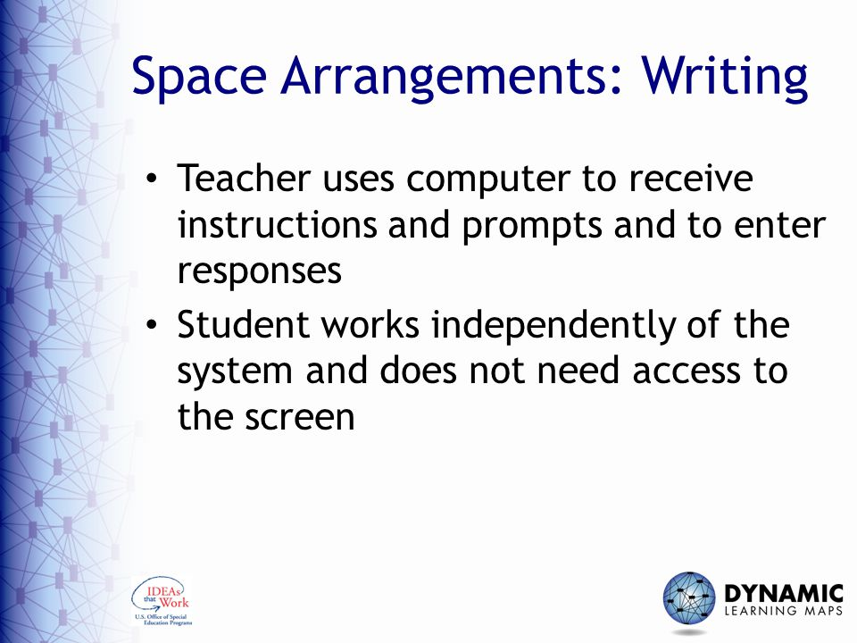 Space Arrangements: Writing