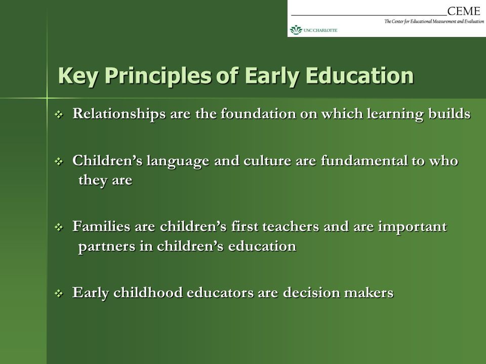 Key Principles of Early Education