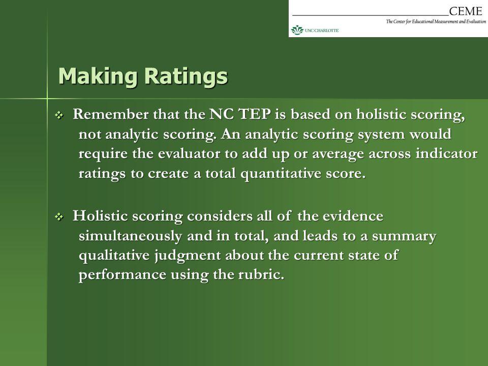 Making Ratings