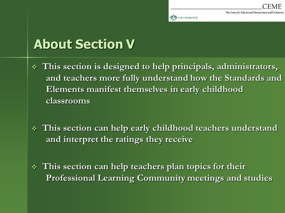 About Section V