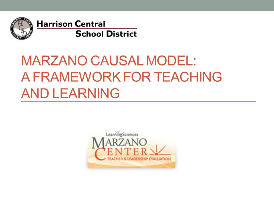 Marzano Causal Model: A Framework for Teaching and Learning