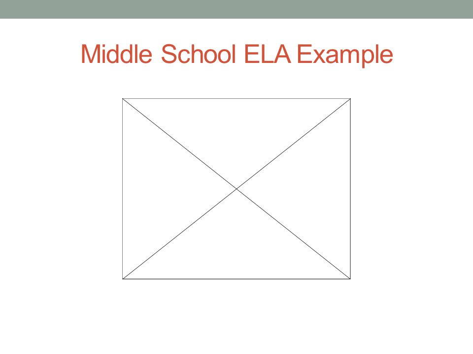Middle School ELA Example