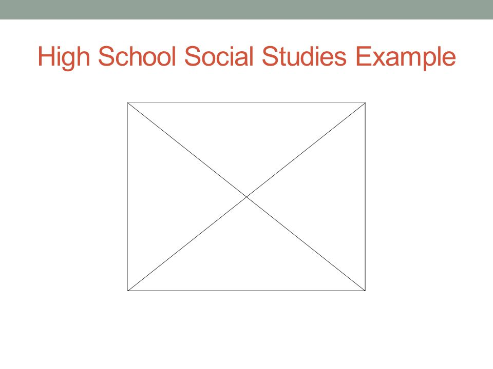 High School Social Studies Example