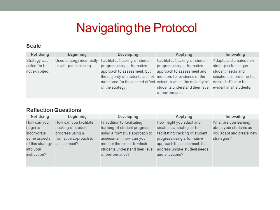 Navigating the Protocol