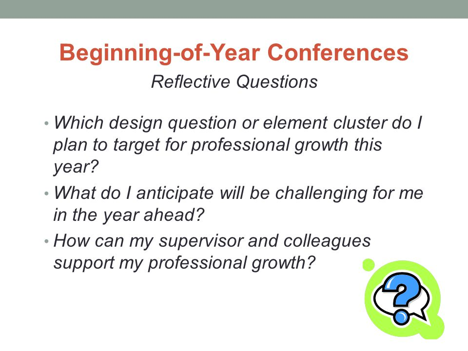 Beginning-of-Year Conferences