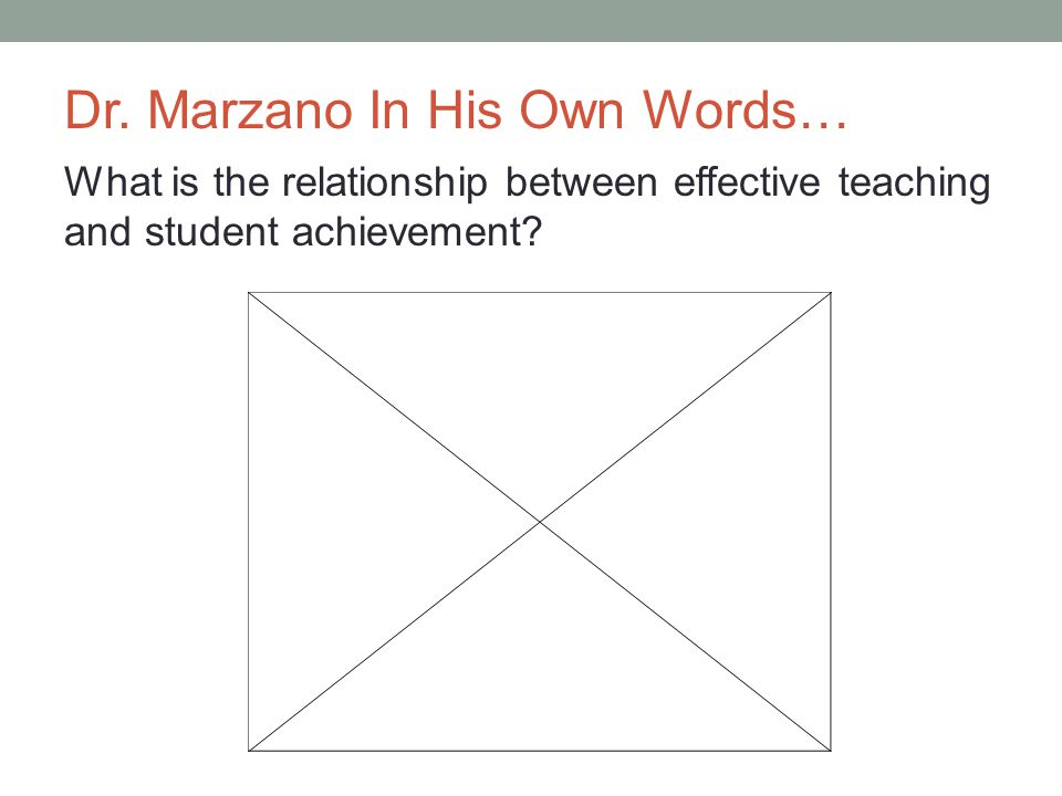 Dr. Marzano In His Own Words…
