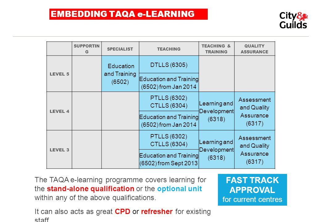 EMBEDDING TAQA e-LEARNING