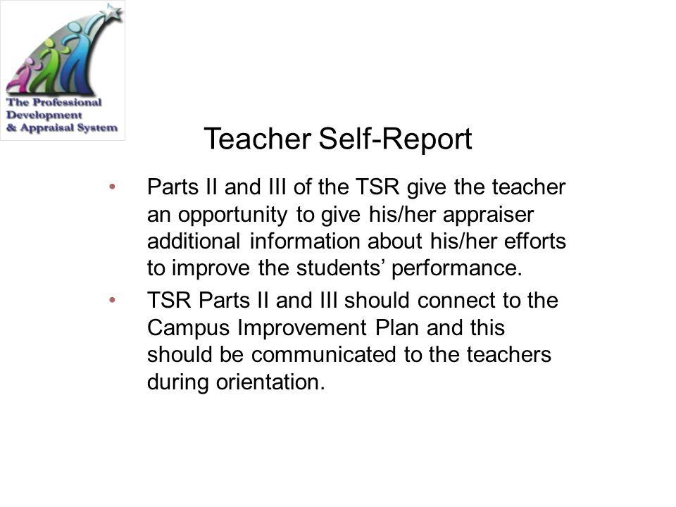 Teacher Self-Report