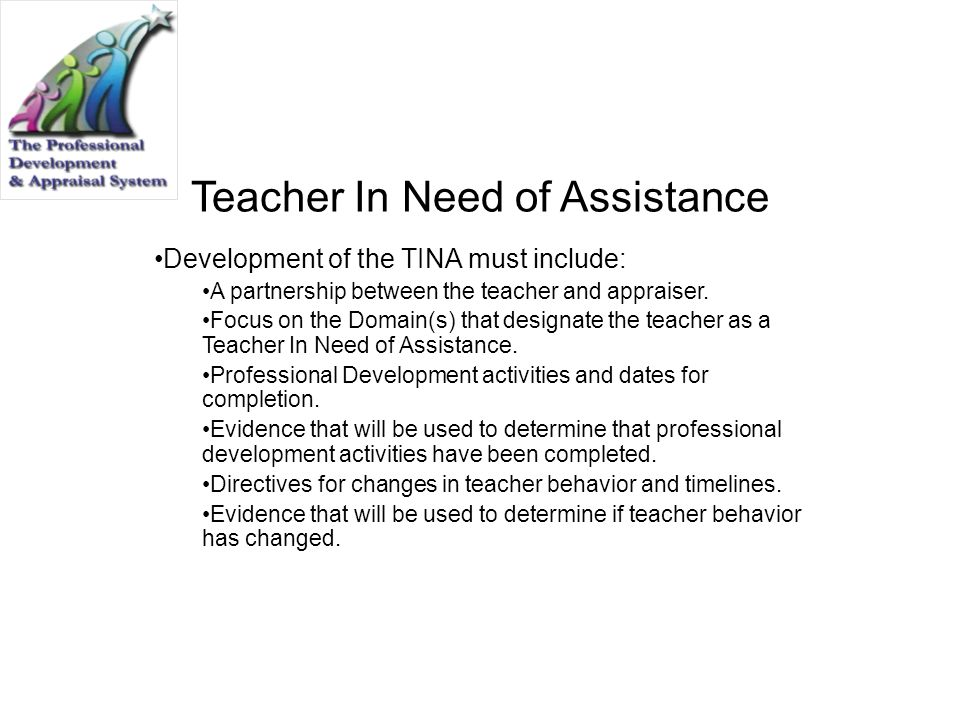 Teacher In Need of Assistance