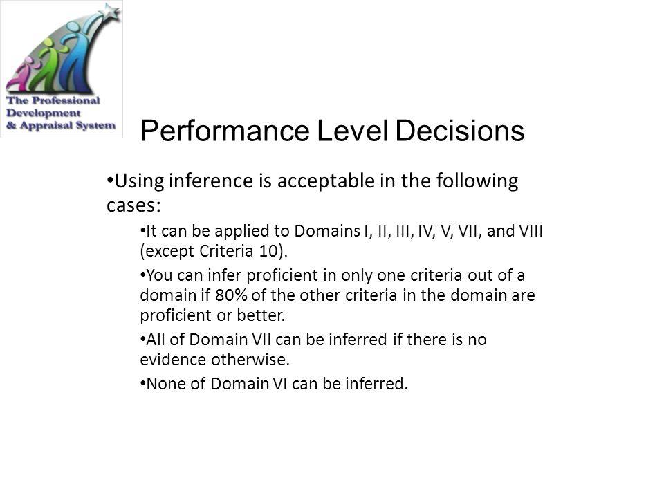 Performance Level Decisions