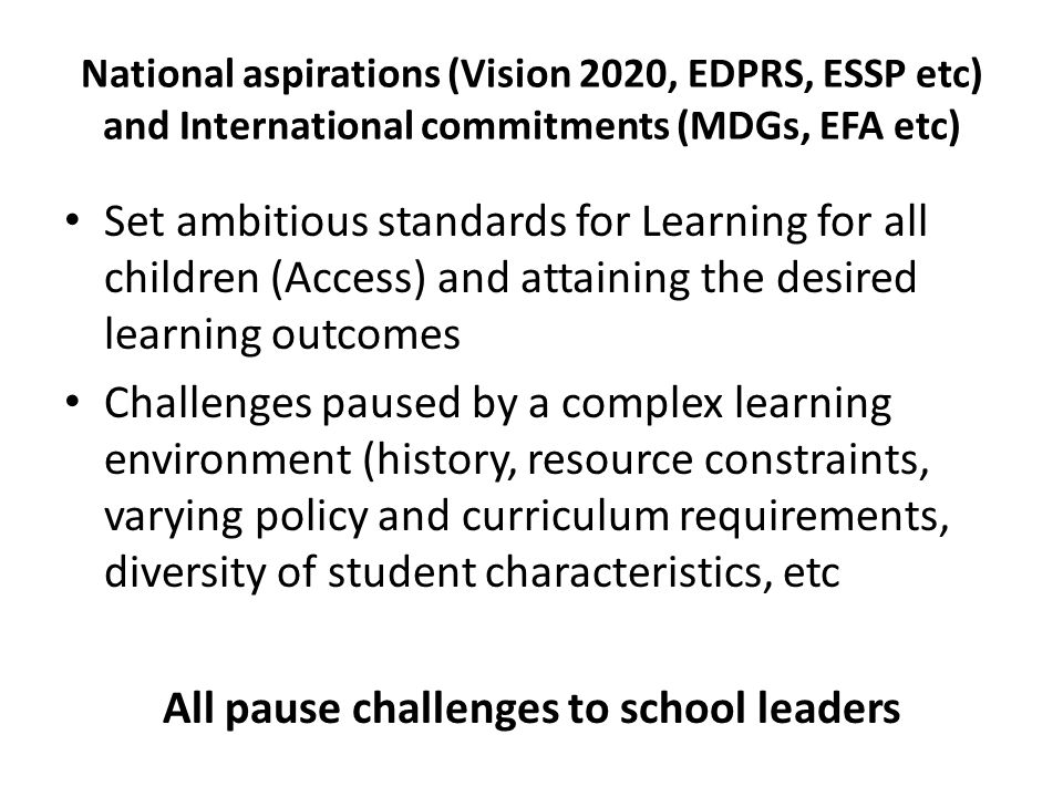 All pause challenges to school leaders