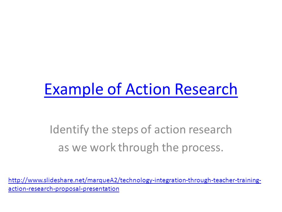 Example of Action Research