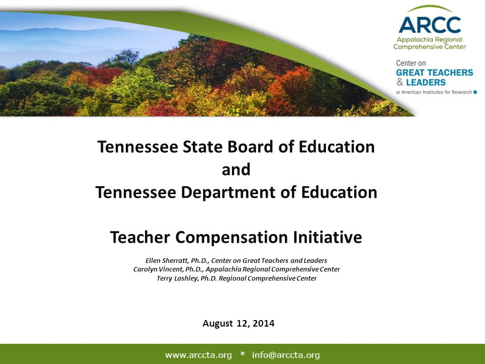 The mission of the Appalachia Regional Comprehensive Center (ARCC) is to provide high-quality, relevant, and useful technical assistance that enhances specific SEA capacities to undertake state education reforms successfully, support district and school implementation of reforms, and maintain effectiveness once our services are complete.