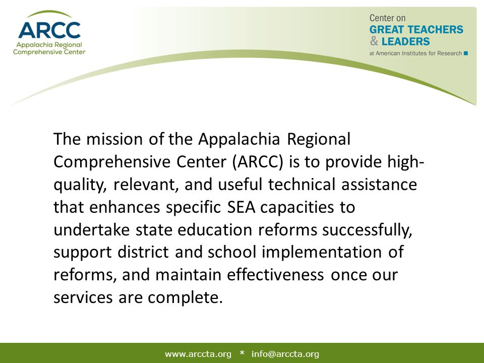 www.arccta.org * info@arccta.org