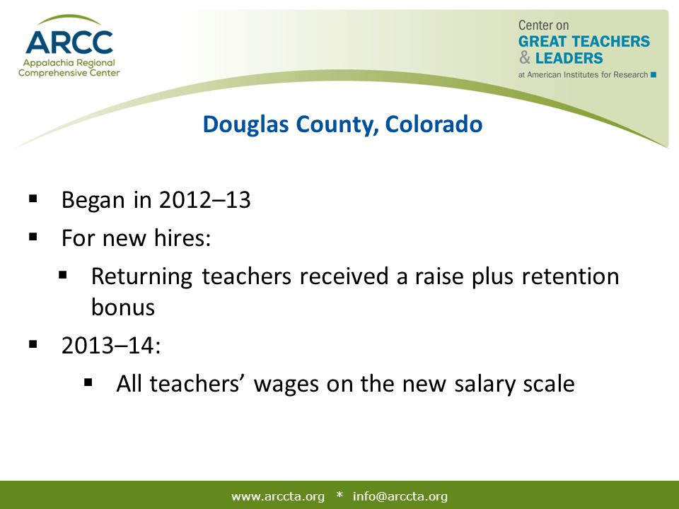 Douglas County, Colorado: Funding Structure and Theory