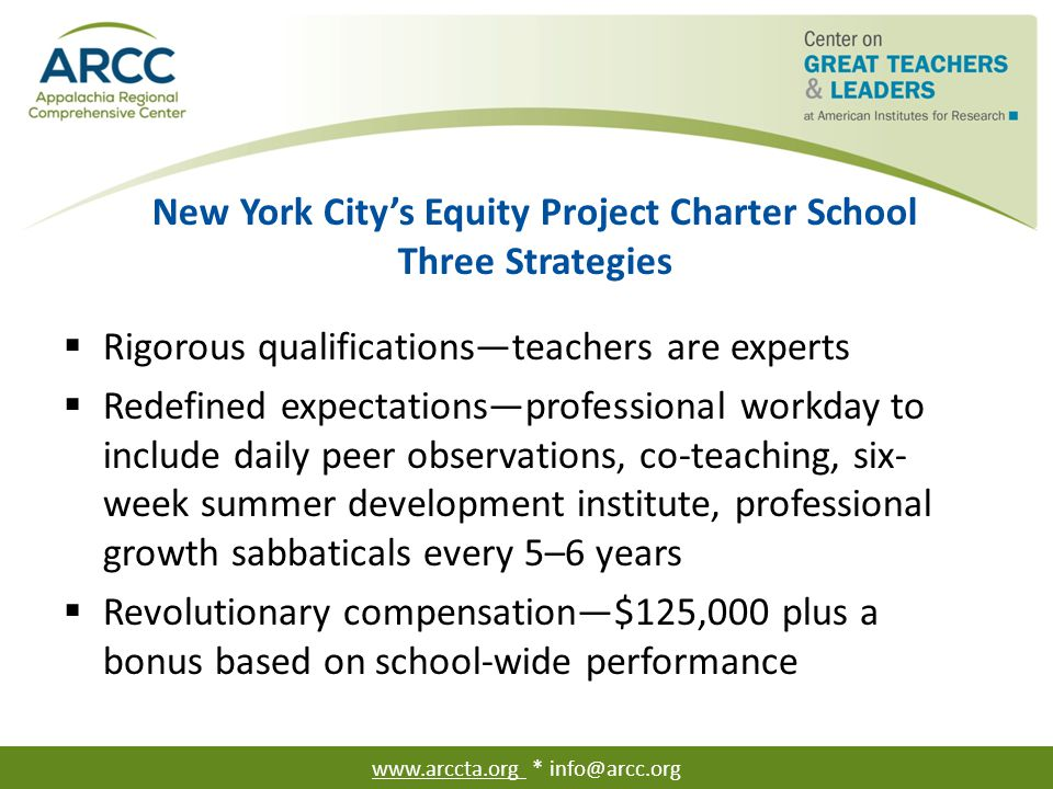 New York City's Equity Project Charter School Theory